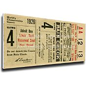 That's My Ticket St. Louis Cardinals 1926 World Series Canvas Mega Ticket