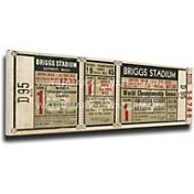 That's My Ticket Detroit Tigers 1945 World Series Canvas Mega Ticket