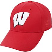 Top of the World Men's Wisconsin Badgers Red Premium Collection M-Fit Hat