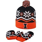 Top of the World Youth Illinois Fighting Illini Blue/Orange/White Lil Frost Beanie and Mittens Set