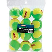 Tourna Kids' Stage 1 Low Compression Balls - 12 Pack