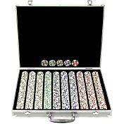 Trademark Poker 1,000 Aces Chip Poker Set and Aluminum Case