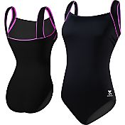 TYR Women's Pink Square Neck Controlfit Swimsuit