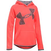 Under Armour Girls' Armour Fleece Jumbo Logo Hoodie