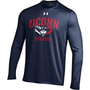 Under Armour Men's Connecticut Huskies Blue Long Sleeve Tech T-Shirt