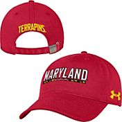 Under Armour Men's Maryland Terrapins Red Garment Washed Adjustable Hat