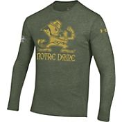 Under Armour Men's Notre Dame Fighting Irish Green Leprechaun Triblend Long Sleeve Shirt