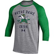Under Armour Men's Notre Dame Fighting Irish Grey Baseball T-Shirt