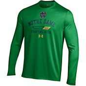 Under Armour Men's Notre Dame Fighting Irish Navy Long Sleeve Tech T-Shirt
