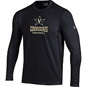 Under Armour Men's Vanderbilt Commodores Raid Performance Long Sleeve Black T-Shirt