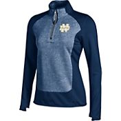 Under Armour Women's Notre Dame Fighting Irish Navy Eclipse Microfleece Half-Zip Shirt