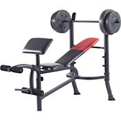 Weider Pro 265 Standard Bench and Weight Combo Pack