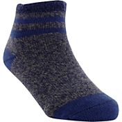 Yaktrax Toddler Cozy Cabin Stripe Crew Socks