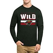 '47 Men's Minnesota Wild Club Dark Green Long Sleeve T-Shirt