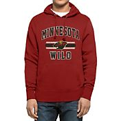 '47 Men's Minnesota Wild Headline Pullover Red Hoodie