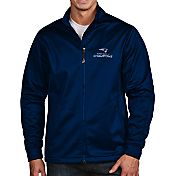 Antigua Men's Super Bowl LI Champions New England Patriots Full-Zip Navy Golf Jacket