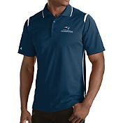 Antigua Men's Super Bowl LI Champions New England Patriots Merit Xtra-Lite Navy Polo