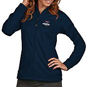 Antigua Women's 5X Super Bowl LI Champions New England Patriots Full-Zip Navy Golf Jacket