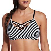 CALIA by Carrie Underwood Women's Front Strappy Bikini Top