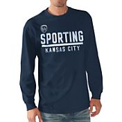 G-III Men's Sporting KC Logo Navy Long Sleeve T-Shirt