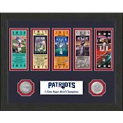Highland Mint 5-Time Super Bowl Champions New England Patriots Ticket Collection