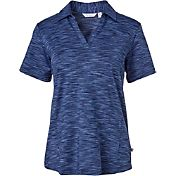Lady Hagen Women's Essentials Space Dye Golf Polo – Plus Size