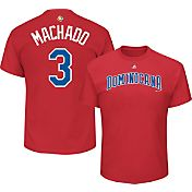 Majestic Men's Replica 2017 WBC Dominican Republic Manny Machado #3 Red T-Shirt