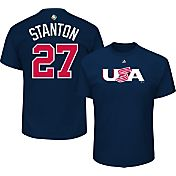 Majestic Men's Replica 2017 WBC USA Giancarlo Stanton #27 Navy T-Shirt