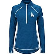 Majestic Women's Los Angeles Dodgers Cool Base Royal Half-Zip Pullover