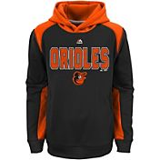 Majestic Youth Baltimore Orioles Therma Base Geo Fuse Black Hooded Fleece