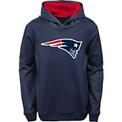 NFL Team Apparel Youth New England Patriots Performance Logo Navy Hoodie