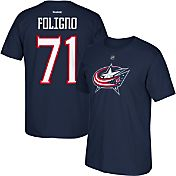 Reebok Men's Columbus Blue Jackets Nick Foligno #71 Navy Player T-Shirt