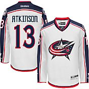 Reebok Men's Columbus Blue Jackets Cam Atkinson #13 Premier Replica Away Jersey