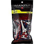 Maxfli 2.75'' Multi-Colored Golf Tees – 100-Pack
